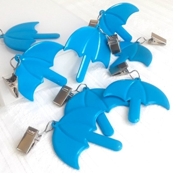 Other - COPY - Blue Umbrella Tablecloth Weights, Set of 4